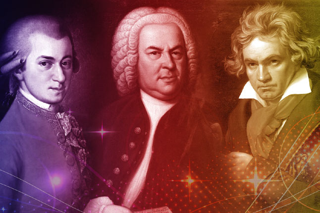 שלושת הגדולים: באך, מוצרט ובטהובן