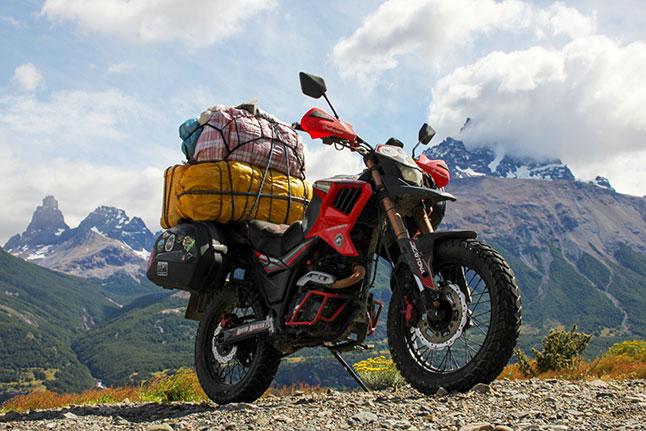 דרום אמריקה באופנוע